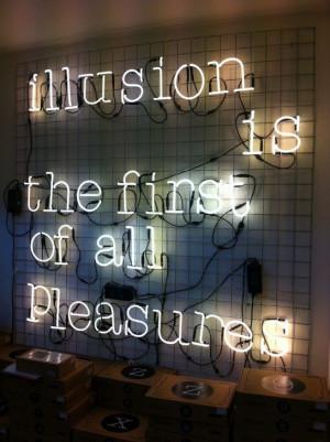"Neon ""Illusion quote"""