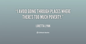 """avoid going through places where there's too much poverty."""""""