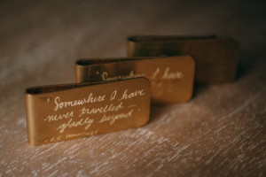 Vintage Money Clip Hand-Engraved with Quote from ee cummings ...