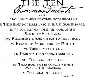 Vector Quotes - Ten Commandments
