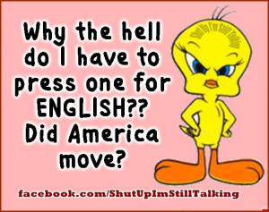 Why do press 1 for english