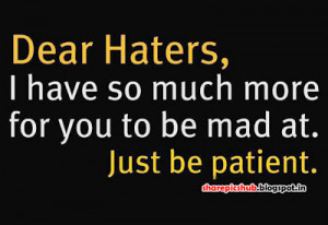 Good Hater Quotes For Facebook