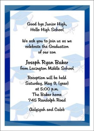 Middle School Graduation Cap Announcement Cards areBecoming Very ...
