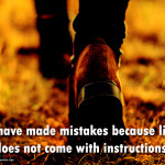 have made mistakes i have made mistakes because life does not come ...