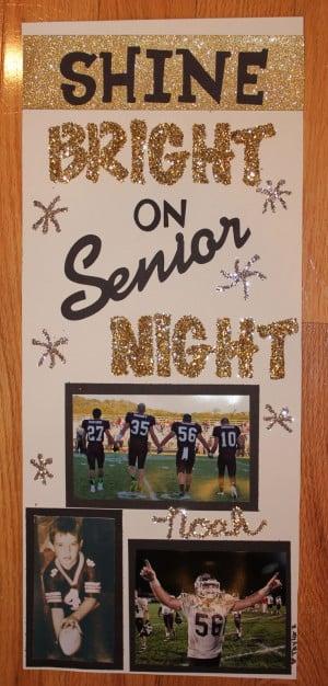 Senior Night sign