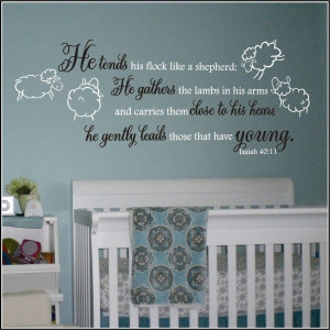 Lamb and Sheep Nursery Wall Decals ... Church nursery?