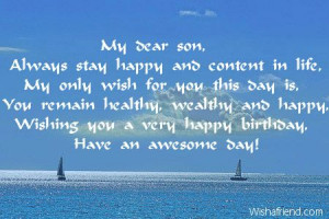 Birthday Wish For Son: Sons Always, Dear Sons, Quotes, Happy Birthday ...