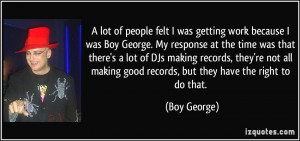 More Boy George Quotes