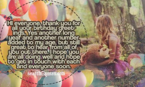 Thank You Birthday Greetings Quotes