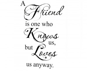 ... Quote Vinyl Art Lettering A Friend Loves Us Friendship(China (Mainland