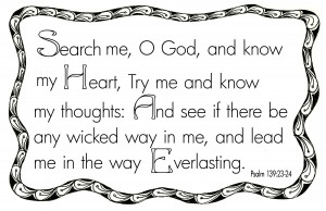 Pslam 139.23 24 Bible Verse