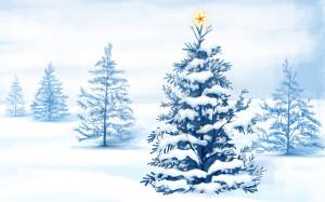 Christmas Snow Trees