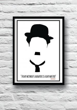 Charlie Chaplin poster, Charlie Chaplin art, Quote poster, Wall Art ...