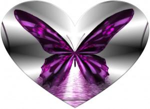 Wallpaper de corazones y mariposas