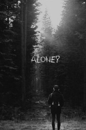 alone, dark, depress, depression, forest, lonely