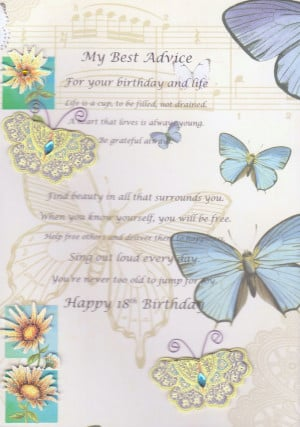 Amber's 18th Birthday card...1124