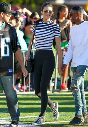 Kendall has been spotted out with Chris Brown on more than one ...