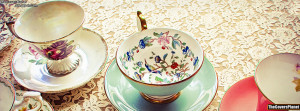 Pretty Vintage Tea Cups Facebook Covers