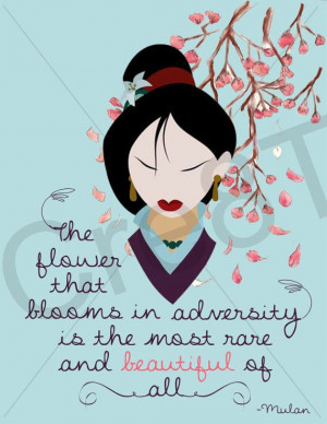 cherry blossom, disney quotes, mulan, chinese princess