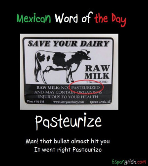 Mexican word of the day ~ Pasteurize