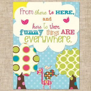 Printable Dr. Seuss Quote Wall Art, Print Your Own Home Decor