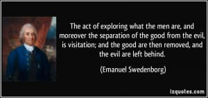 The act of exploring what the men are, and moreover the separation of ...