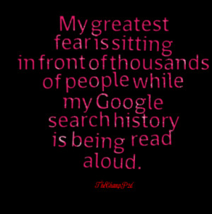 Fear Is Sitting In Front Of Thousands Of People While My Google ...