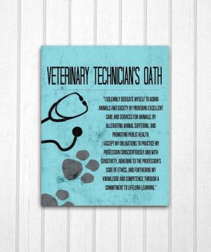 Veterinary Technician's Oath Print by MayaGraceDesigns on Etsy, $12.99