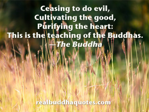 """... the heart: This is the teaching of the Buddhas."""" The Buddha"""