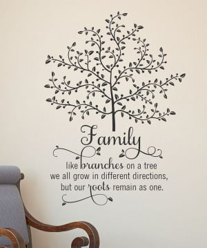 Family Tree Wall Quote - would love this, especially since I love ...