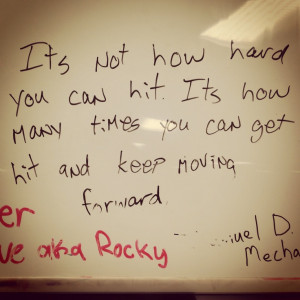 Love this motivational quote from aka Rocky Balboa. #wrestling #sports