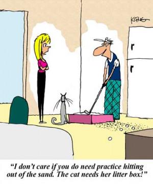 Golf Cartoon: Litter Box - Jerry King