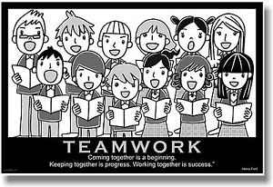 ... -Motivational-TEAMWORK-POSTER-Henry-Ford-Quote-Choir-Music-Musicians