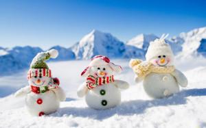 图文] 圣诞节雪人ppt背景图片