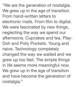 Generation of Nostalgia