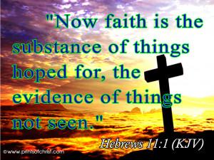 BV81 Hebrew 11:1 (KJV) Image