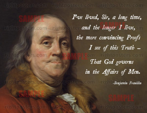Anti Religion Quotes Founding Fathers Benjamin franklin god
