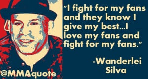 Wanderlei Silva gives everything he has in the cage for the fans and ...