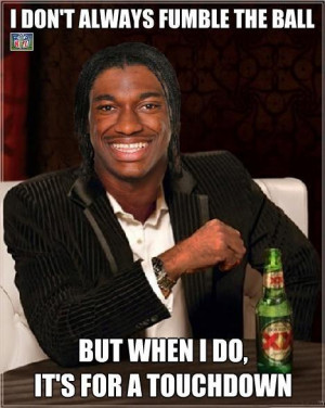 the red hot rookie qb rg3 and the washington redskins
