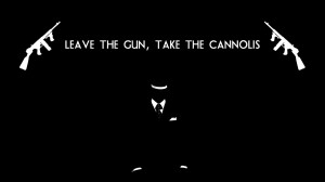 The Godfather BW Black Gun Cannolis movies mafia weapons text quotes ...