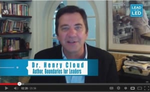 Dr. Henry Cloud – Part Two on Lead or Be Led, Web TV for Leaders