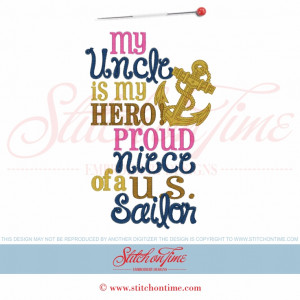 5853 Sayings : My Uncle Is My Hero 5x7