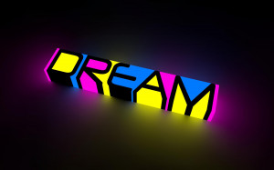 abstract dream color neon bright words letters motivational ...