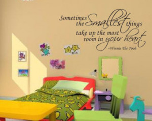 Things Your Heart Winnie The Pooh Wall Decal, Wall Stickers, Wall ...