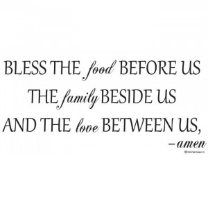 ... the food before us Vinyl wall lettering quotes and sayings hom