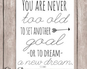 Literature quote, Inspirational, fa ith, CS Lewis quote, You are never ...