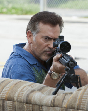 "BURN NOTICE — ""Means & Ends"" — Pictured: Bruce Campbell as Sam ..."
