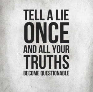 Quotes About People Who Lie Tell a lie