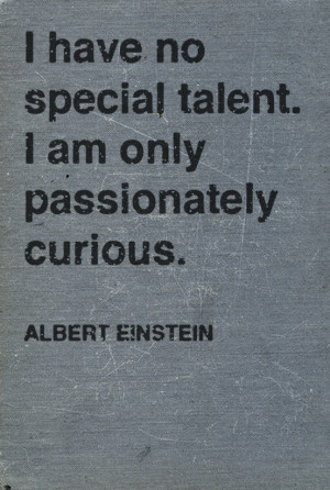 Albert Einstein - I have No Special Talent - Quote