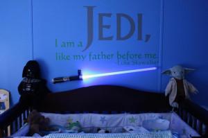 Jedi wall quote for nursery | geeeeks & nerrrrds